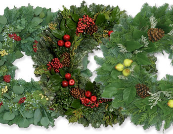 christmas wreaths trufel collage - Christmas Greenery Wholesale